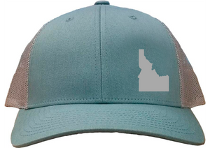 Idaho Snapback Hat - Smoke Blue/Aluminum