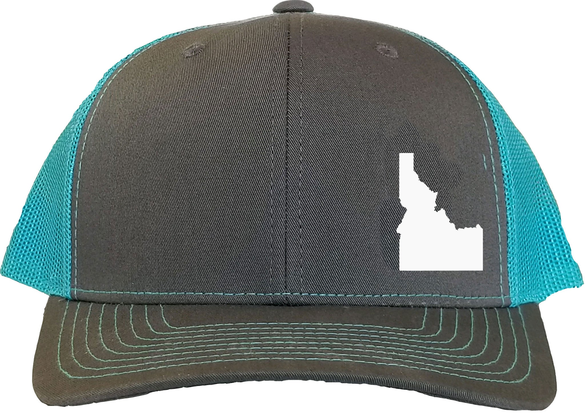 Idaho Snapback Hat - Grey/Aqua