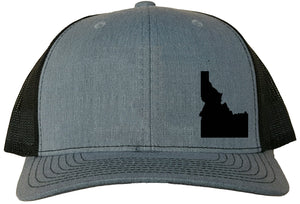 Idaho Snapback Hat - Grey/Black