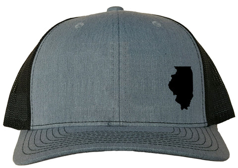 Illinois Snapback Hat - Grey/Black
