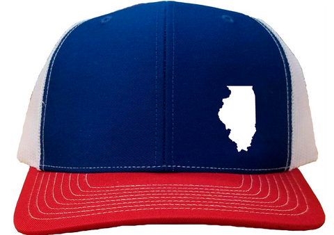 Illinois Snapback Hat - Royal/White/Red