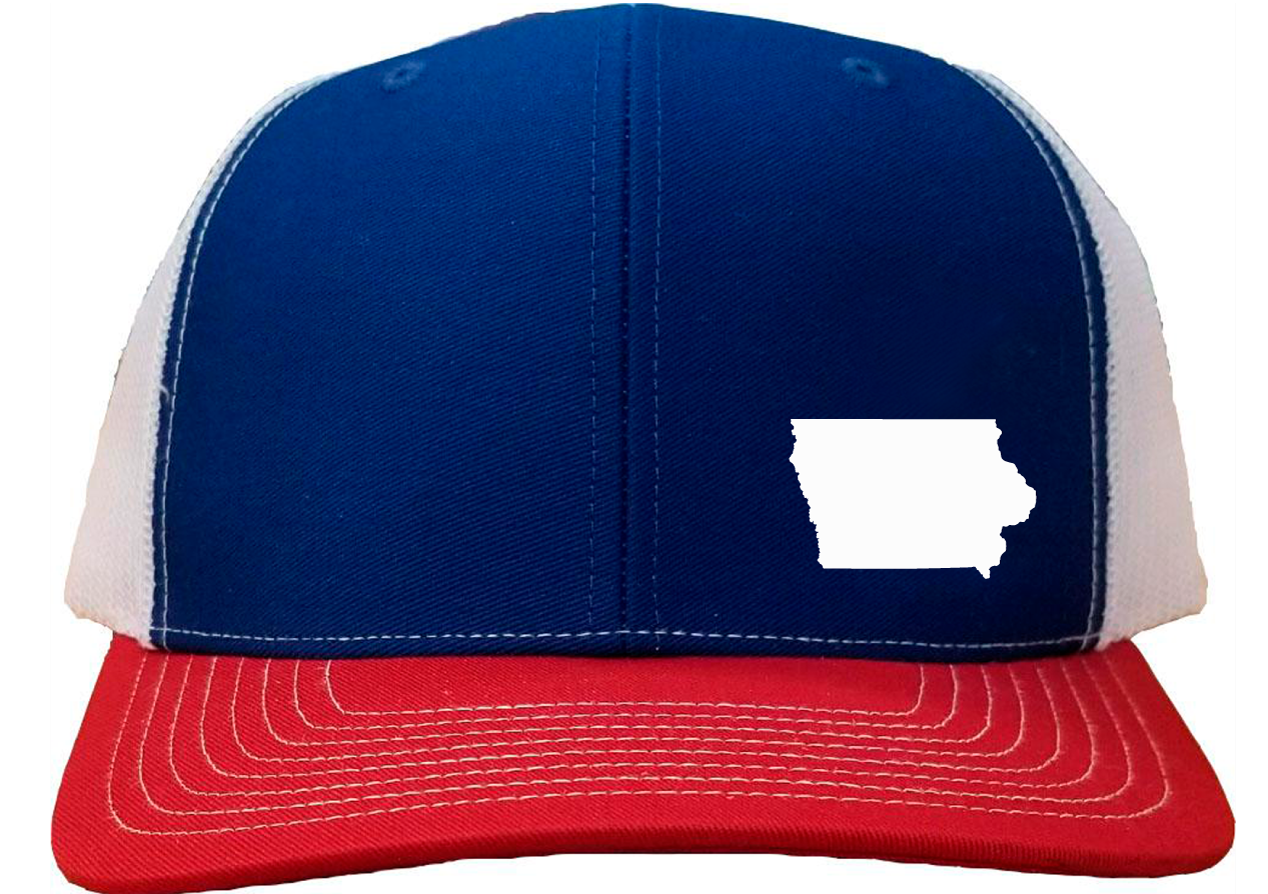 Iowa Snapback Hat - Royal/White/Red