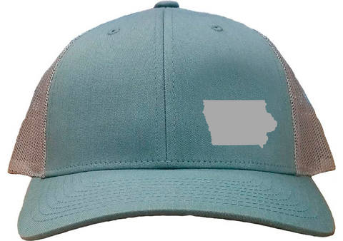 Iowa Snapback Hat - Smoke Blue/Aluminum