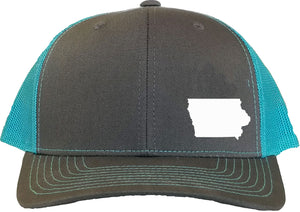 Iowa Snapback Hat - Grey/Aqua