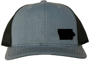 Iowa Snapback Hat - Grey/Black