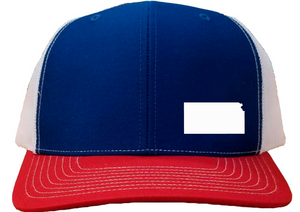 Kansas Snapback Hat - Royal/White/Red