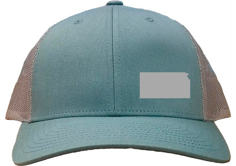 Kansas Snapback Hat - Smoke Blue/Aluminum