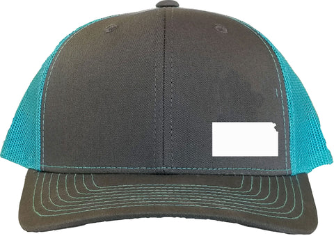 Kansas Snapback Hat - Grey/Aqua