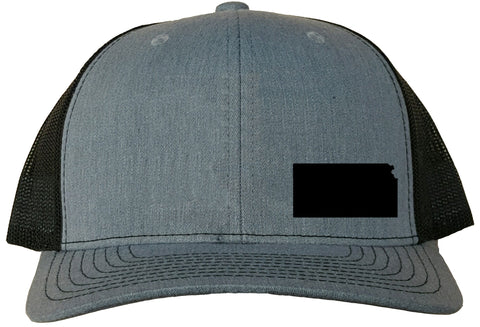 Kansas Snapback Hat - Grey/Black