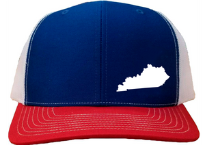 Kentucky Snapback Hat - Royal/White/Red