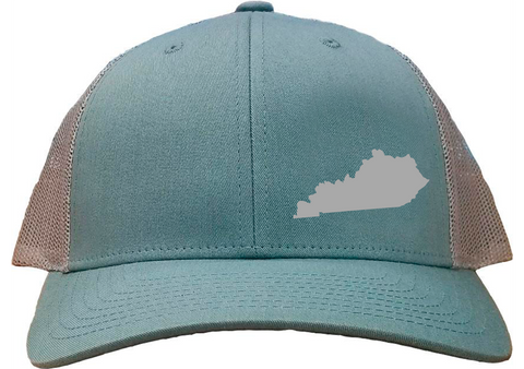 Kentucky Snapback Hat - Smoke Blue/Aluminum