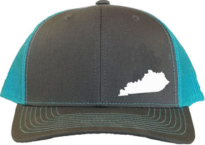 Kentucky Snapback Hat - Grey/Aqua
