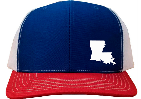 Louisiana Snapback Hat - Royal/White/Red