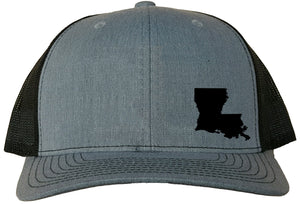 Louisiana Snapback Hat - Grey/Black