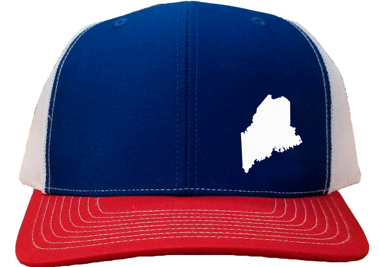 Maine Snapback Hat - Royal/White/Red