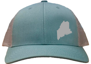 Maine Snapback Hat - Smoke Blue/Aluminum