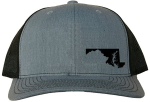 Maryland Snapback Hat - Grey/Black