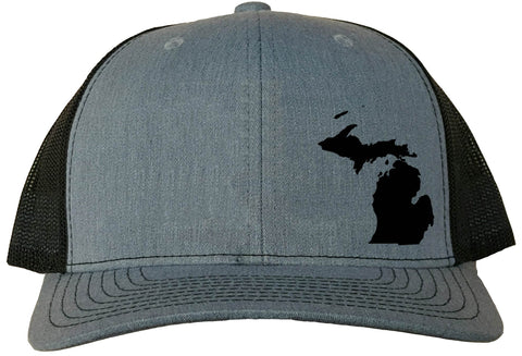 Michigan Snapback Hat - Grey/Black
