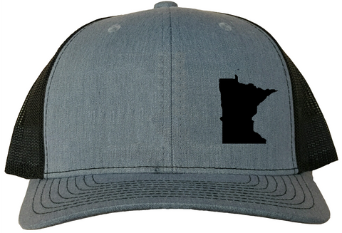 Minnesota Snapback Hat - Grey/Black