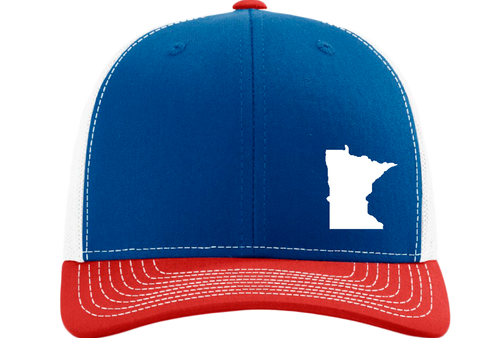 Minnesota Snapback Hat - Royal/White/Red