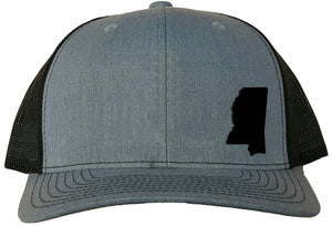 Mississippi Snapback Hat - Grey/Black