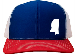 Mississippi Snapback Hat - Royal/White/Red