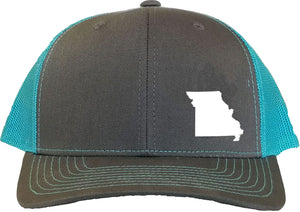 Missouri Snapback Hat - Grey/Aqua