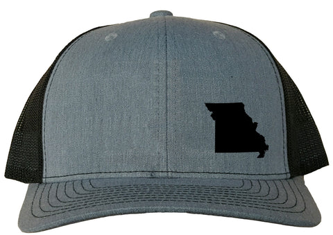 Missouri Snapback Hat - Grey/Black