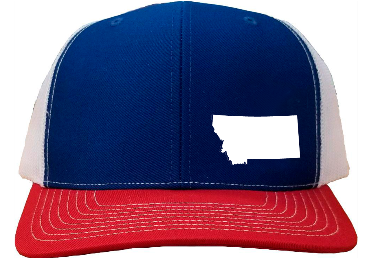 Montana Snapback Hat - Royal/White/Red