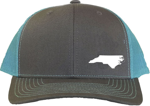 North Carolina Snapback Hat - Grey/Aqua