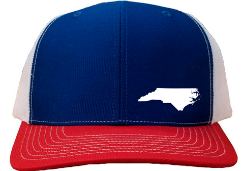 North Carolina Snapback Hat - Royal/White/Red