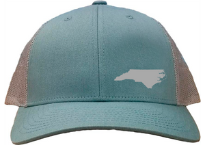 North Carolina Snapback Hat - Smoke Blue/Aluminum
