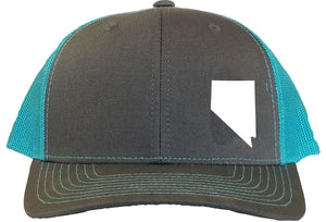Nevada Snapback Hat - Grey/Aqua