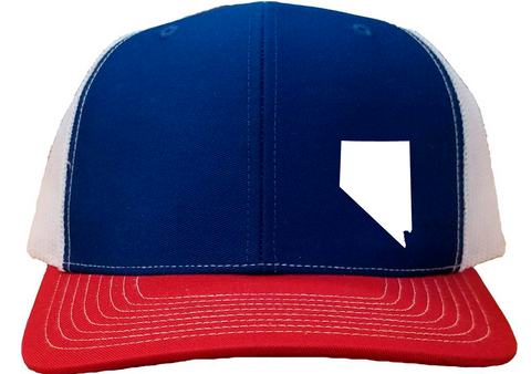 Nevada Snapback Hat - Royal/White/Red