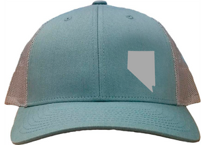 Nevada Snapback Hat - Smoke Blue/Aluminum