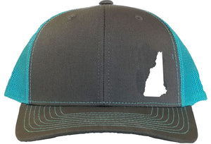 New Hampshire Snapback Hat - Grey/Aqua