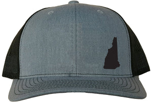 New Hampshire Snapback Hat - Grey/Black