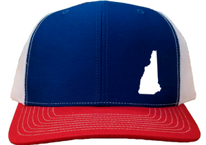 New Hampshire Snapback Hat - Royal/White/Red