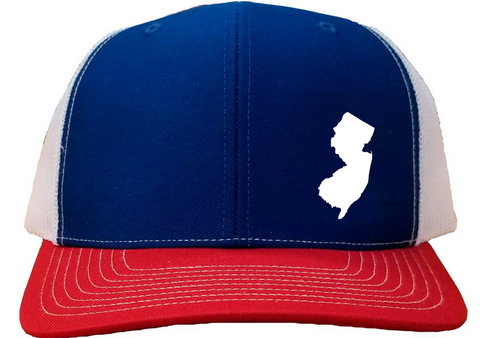 New Jersey Snapback Hat - Royal/White/Red