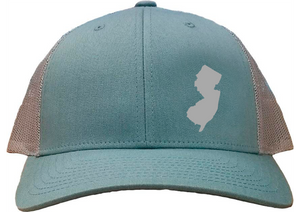 New Jersey Snapback Hat - Smoke Blue/Aluminum