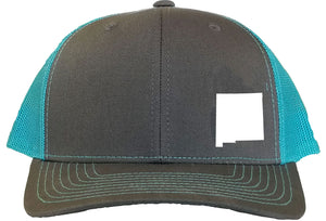 New Mexico Snapback Hat - Grey/Aqua