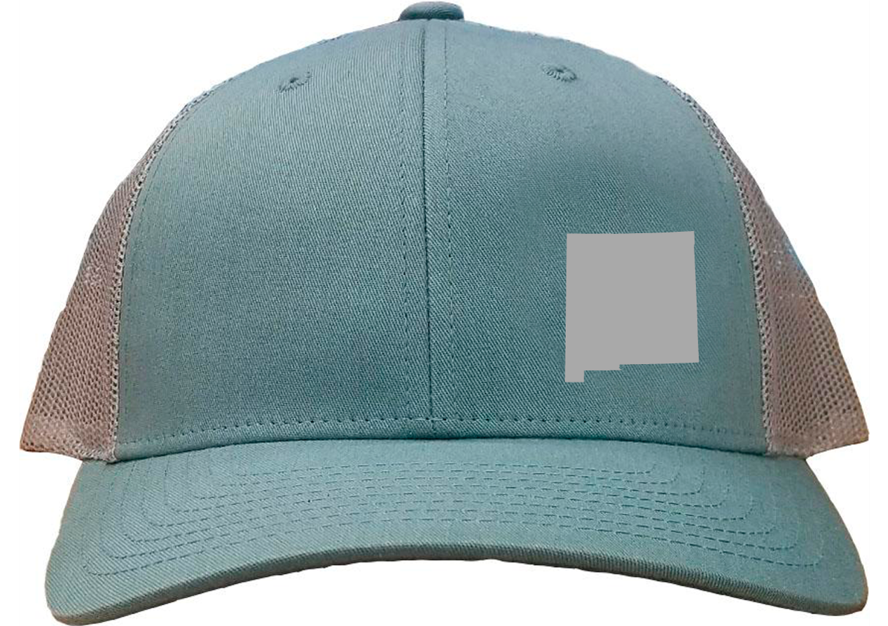 New Mexico Snapback Hat - Smoke Blue/Aluminum