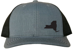 New York Snapback Hat - Grey/Black