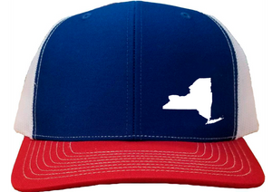 New York Snapback Hat - Royal/White/Red