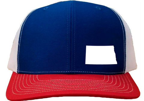 North Dakota Snapback Hat - Royal/White/Red