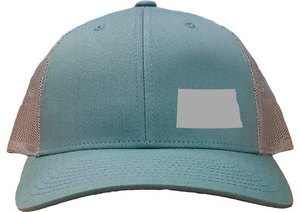 North Dakota Snapback Hat - Smoke Blue/Aluminum