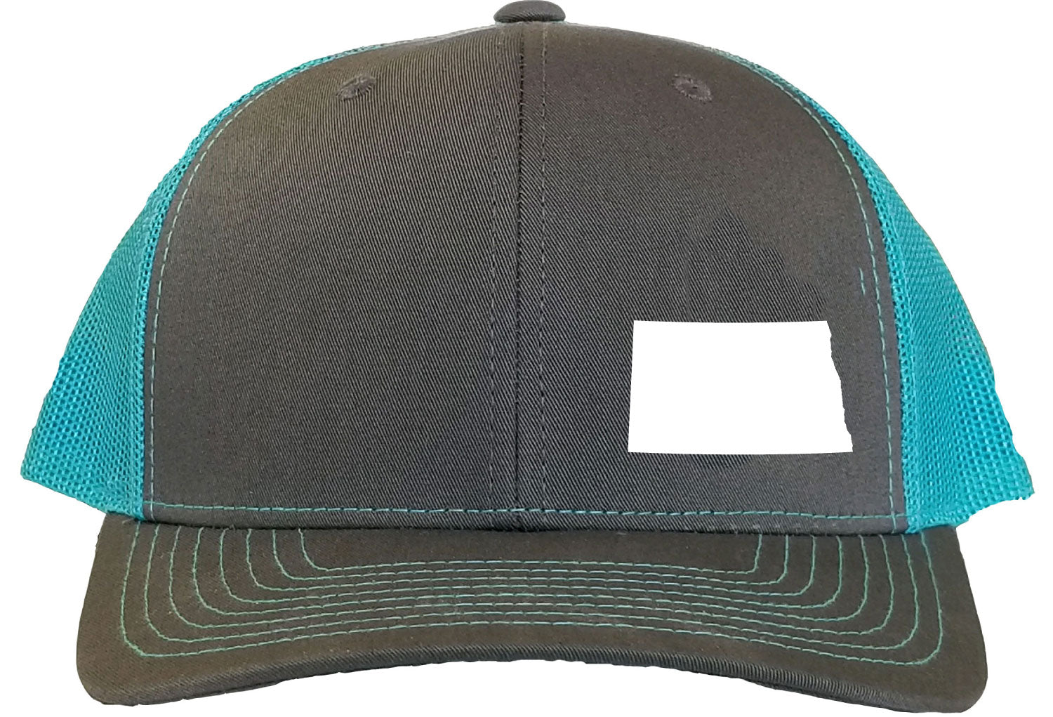 North Dakota Snapback Hat - Grey/Aqua