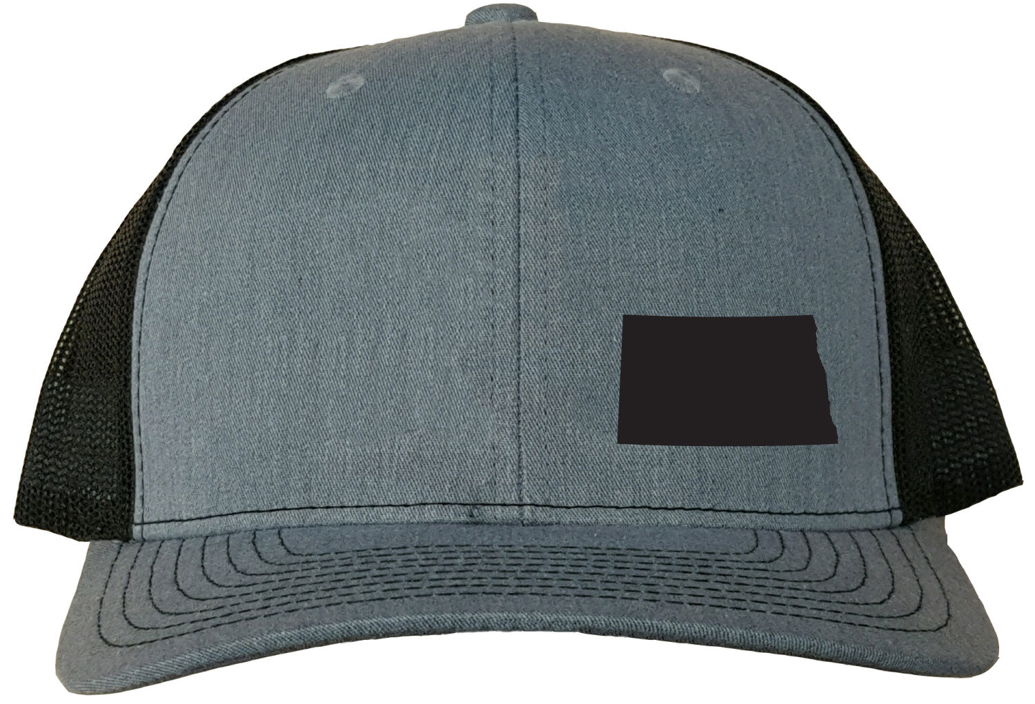 North Dakota Snapback Hat - Grey/Black