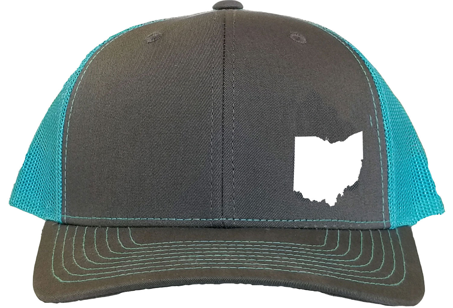 Ohio Snapback Hat - Grey/Aqua
