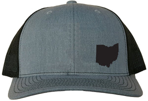 Ohio Snapback Hat - Grey/Black